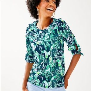 NWT! Lilly Pulitzer Preston Top in Tidal Wave